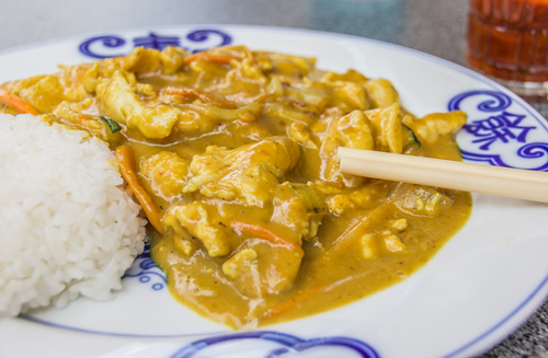 Rich Coconut Peanut Curry Chicken