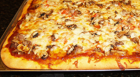 Coconut Barbeque Pizza Recipe Photo. Photo by Jeremiah Shilhavy, all copyrights reserved. Prepared by Marianita Shilhavy.