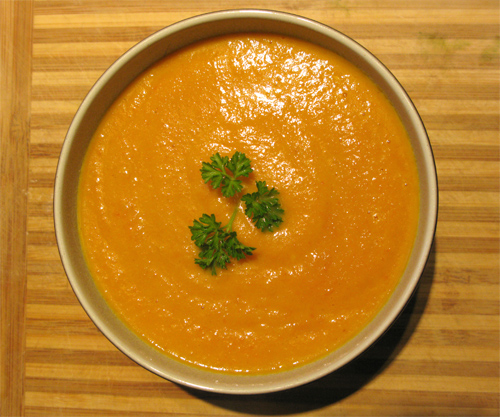 Curry Cream of Carrot Soup photo