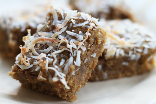 Gluten Free Toasted Coconut Ginger Blondies recipe photo