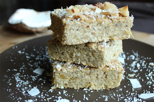 Pineapple, Mango and Coconut Tropical Bars Recipe photo
