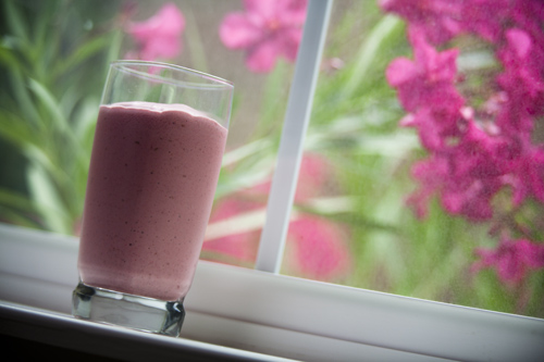 Raspberries and Cream Breakfast Smoothie photo