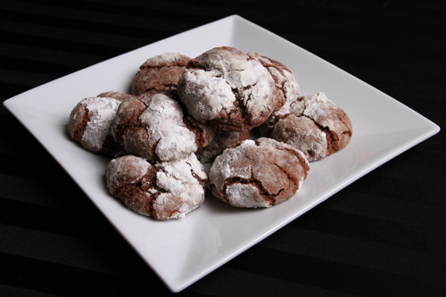 Gluten Free Chocolate Crinkles Cookies recipe photo